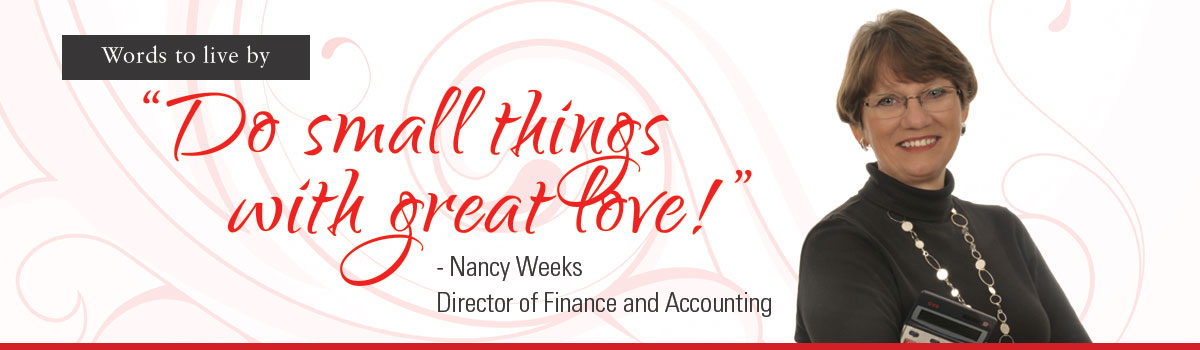 nancy: do small things with great love